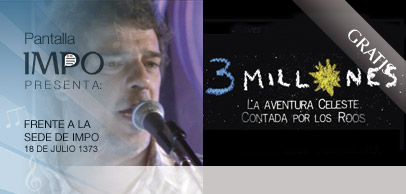 19 hs. Recital de Alejandro Balbis 20 hs. 3 Millones, de Jaime y Yamandú Roos