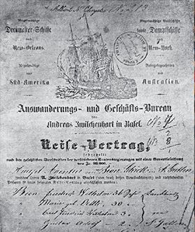 Carátula Del Contrato De Transporte Marítimo Celebrado Por Federico  G. Bion Y Familia.