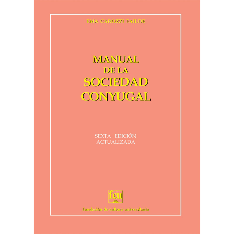 Manual de la sociedad conyugal