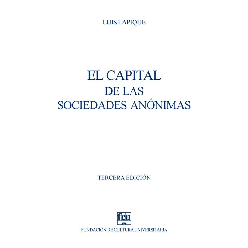 El capital de las sociedades anónimas