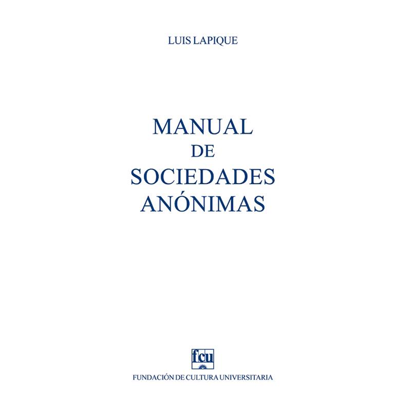 Manual de sociedades anónimas