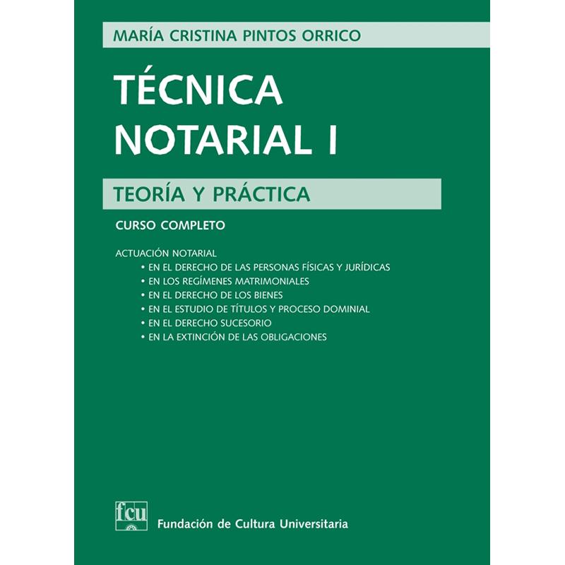 Técnica Notarial I