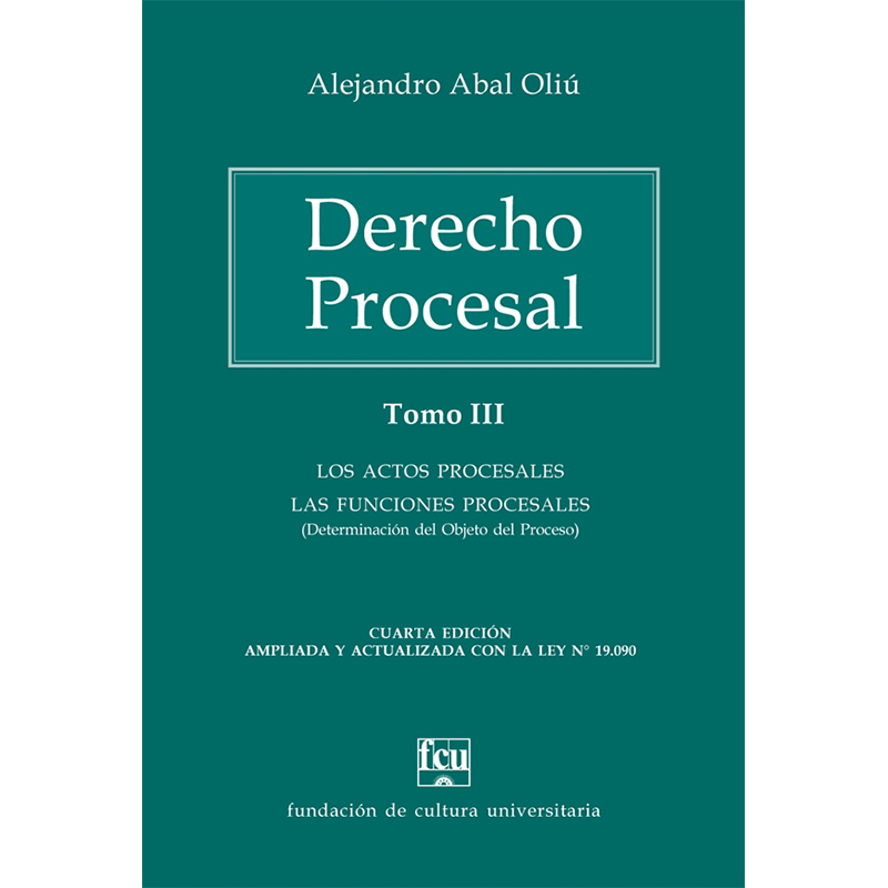 Derecho Procesal - Tomo III