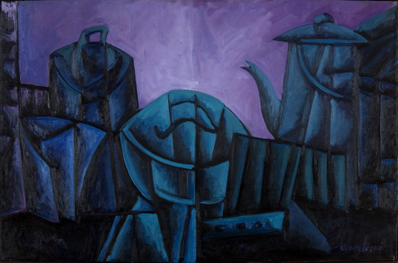 26  – AROZTEGUI – Bodegón Azul Desplegado