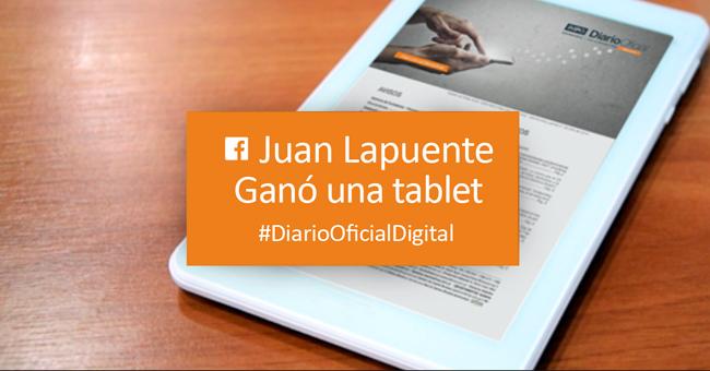 Sorteo Ganador de Tablet facebook