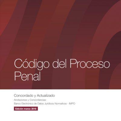 Tapa Codigo Del Proceso Penal