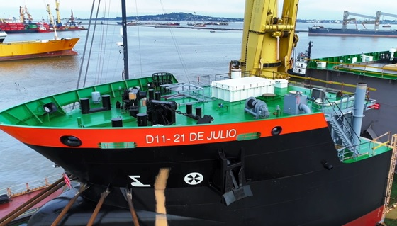 """Construcción De La Draga D 11 """"21 De Julio""""."""