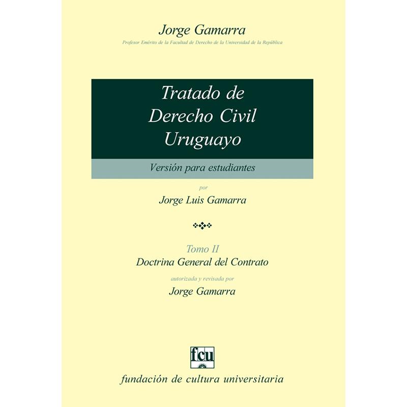 Tratado de Derecho Civil uruguayo Tomo II – versión para estudiantes