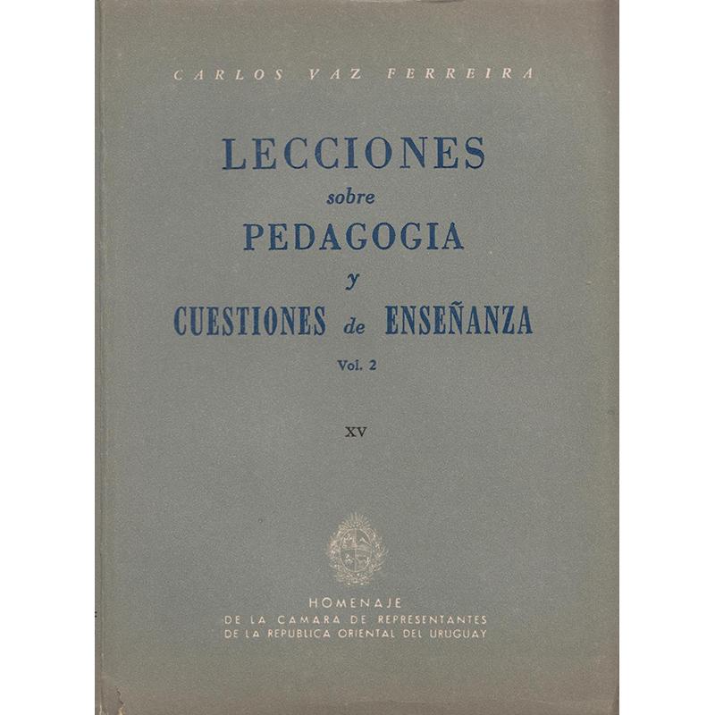 Lecciones sobre Pedagogía y Cuestiones de Enseñanza. Vol 2