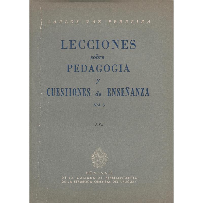 Lecciones sobre Pedagogía y Cuestiones de Enseñanza. Vol 3