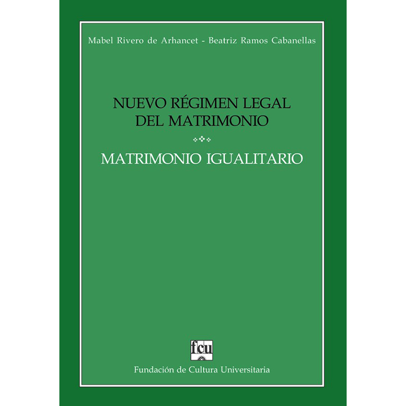 Nuevo Régimen Legal del Matrimonio