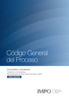 Tapa Libro Código General Del Proceso