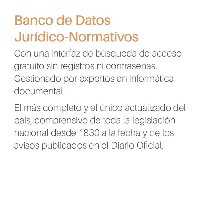 Producto Banco de Datos Jurídico Normativo