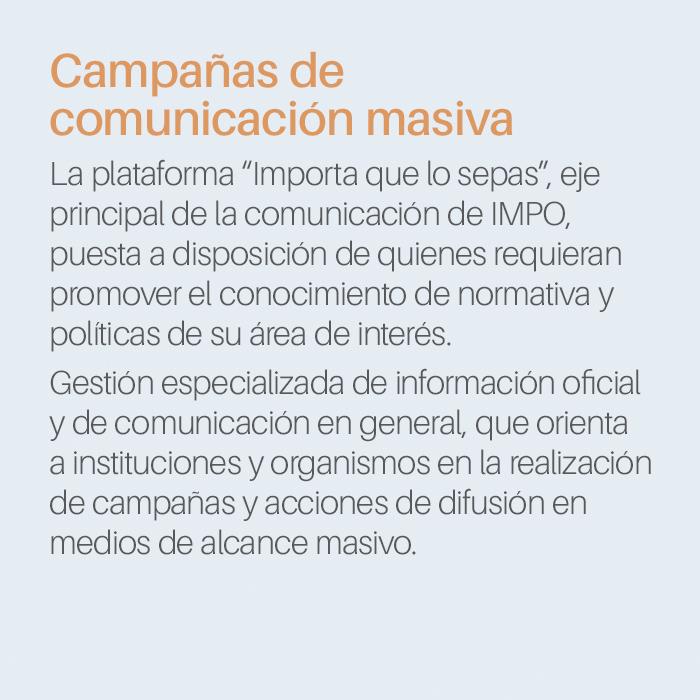 Campañas de comunicación masiva