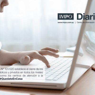 Niño Estudiando Online