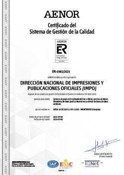 AENOR Certificado IMPO