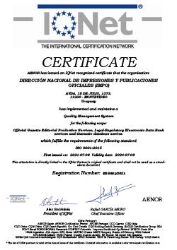 IQNet Certificado IMPO
